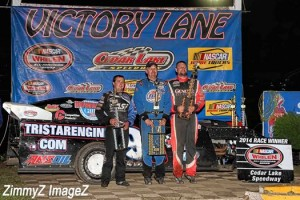 thatcher in victory lane