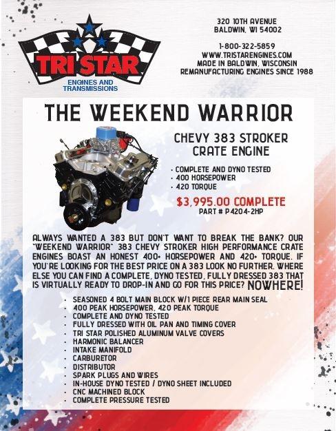 Warrior Core Engine Xp: 383 Stroker Motor For Sale