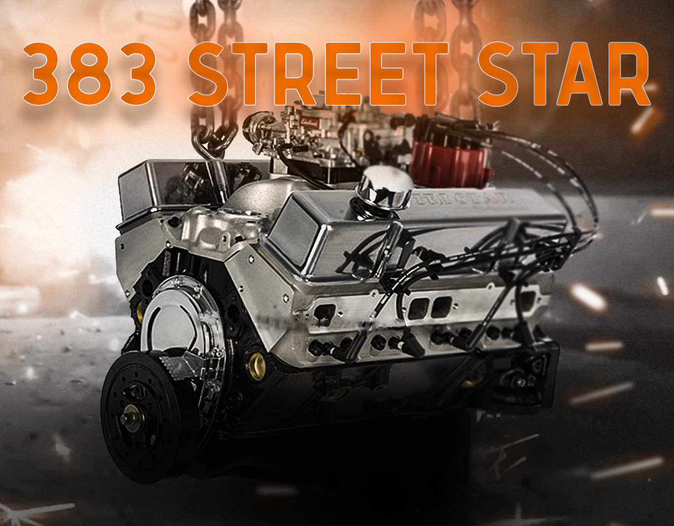 """Street Star"" Chevy 383   Stroker Crate Engine"