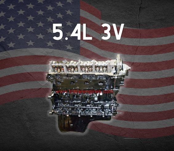 Part # P3128 • 5.4L 3V Ford Remanufactured Engine
