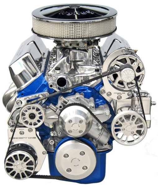 Small Block Ford Kit with Alternator, A/C and Power Steering Tri Star Engines