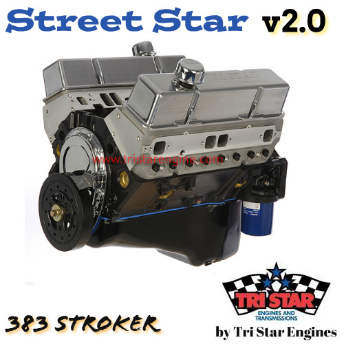 Street Star v2.0 383 Stroker long block Crate Engine