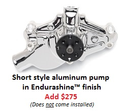 Short style aluminum pump Endurashine finish
