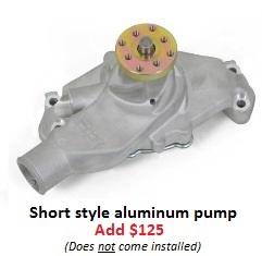 Short style aluminum pump